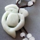 Natural Jade Jadeite Bead Pendant Necklace 35mm*25mm  T1732