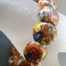 Goldstone Gem Oval Beads Bracelet  T1741