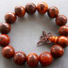 15mm Rosewood Kwan-Yin FO Beads Buddhist Prayer Mala Bracelet  T1831