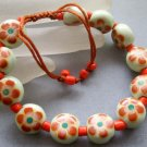 12mm Vintage Style Porcelain Flower Beads Bracelet  T1832