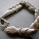 Alloy Metal Snake Boa Bangle Bracelet  T1859