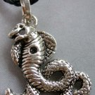 Alloy Metal Snake Boa Pendant Necklace 37mm*33mm  T1884
