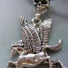 Alloy Metal Skull-Head Mythical Winged-Horse Pendant 53mm*45mm  T1888