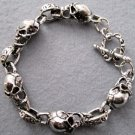 Alloy Metal Skull Beads Bracelet  T1986