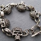 Alloy Metal Skull Beads Bracelet  T1993