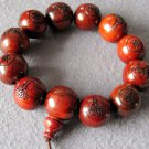 20mm Rosewood Kwan-Yin FO Beads Tibet Buddhist Prayer Mala Bracelet  T2005