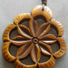 Ox Bone Carved Flower Shape Pendant 40mm*35mm  T2039