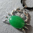Malay Jade Alloy Metal Crab Pendant 33mm*23mm  T2090