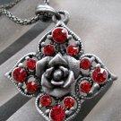 Acrylic Diamond Alloy Metal Flower Pendant 40mm*40mm  T2107