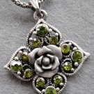 Acrylic Diamond Alloy Metal Flower Pendant 40mm*40mm  T2108