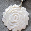 Natural Sea Shell Flower Pendant 43mm*43mm  T2176