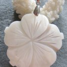 Natural Sea Shell Flower Pendant 42mm*42mm  T2177