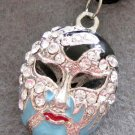 Acrylic Diamond Alloy Metal Mask Pendant 28mm*22mm  T2186