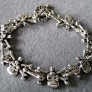 Alloy Metal Skull Skeleton Beads Bracelet  T2237