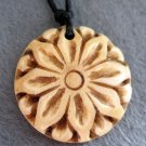 Ox Bone Carved Flower Pendant 25mm*25mm  T2248
