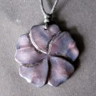 Purple Sea Shell Flower Pendant 35mm*34mm  T2264