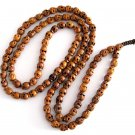Tibet Buddhist 108 Wood Skull Beads Prayer Mala Necklace  ZZ050