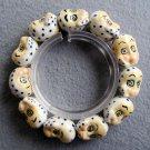15mm Porcelain Monkey-Head Beads Bracelet  T2292