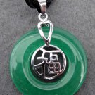 Malay Jade Alloy Metal Good Blessing FU Amulet Pendant 25mm*25mm  T2341