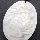 Natural Sea Shell Longevity Turtle Pendant 40mm*30mm  T2347
