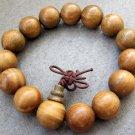 15mm Green Sandalwood Beads Tibet Buddhist Prayer Mala Bracelet  T2365