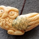 Ox Bone Carved Owl Pendant Bead 33mm*20mm  T2375