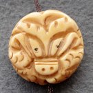 Ox Bone Super Power Dragon Pendant Bead 21mm*21mm  T2377