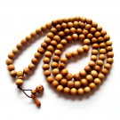 10mm 108 Peach Wood Beads Tibet Buddhist Prayer Mala Necklace  ZZ153