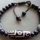 Tibetan Agate Gem 9 Eye Dzi Bead Beads Bracelet  T0955