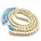 8mm 108 White Turquoise Gem Beads Tibet Buddhist Prayer Mala Necklace  ZZ177