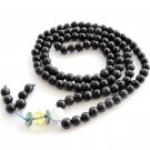 6mm 108 Blue Sandstone Beads Tibet Buddhist Prayer Mala Necklace  ZZ183