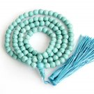 8mm 108 Blue Turquoise Gem Beads Tibet Buddhist Prayer Mala Necklace  ZZ184