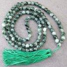 8mm 108 Jade Beads Tibet Buddhist Prayer Mala Necklace  ZZ099