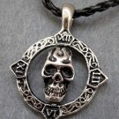 Alloy Metal Skull-Head Pendant 34mm*34mm  T2405