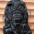 Black Green Jade Evil-Catcher Remover Zhong Kui Amulet Pendant 42mm*25mm  TH008