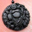 Black Green Jade Fortune Of God Amulet Pendant 47mm*47mm  TH035