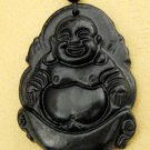 Black Green Jade Tibet Buddhist Buddha Amulet Pendant 45mm*35mm  TH064