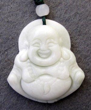 White Jade Tibet Buddhist Buddha Amulet Pendant 36mm*32mm  TH235