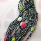 Multi-Color Sea shell And Arylic Rice Beads Bracelet  T2486