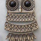 Tibetan Style Alloy Metl Owl Pendant Necklace 640mm*88mm  T2490
