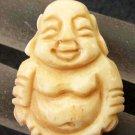 Ox Bone Carved Tibet Buddhist Buddha Amulet Pendant 29mm*22mm  T2503