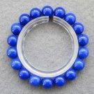 10mm Blue Jade Beads Bracelet  T2521