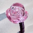 Crystal Quartz Rose Flower Bead Ring  T2530