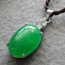 Malay Jade Alloy Metal Oval Shape Pendant 23mm*12mm  T2535