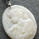 Natural Sea Shell Cameo Beauty Pendant Necklace 40mm*30mm  T2542