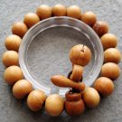 12mm Wood Beads Tibet Buddhist Prayer Mala Bracelet Wrist  T2549