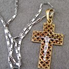 Alloy Metal Christian Jesus Cross Crucifix Pendant Necklace 32mm*20mm  T2550