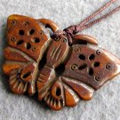 Ox Bone Carved Butterfly Pendant 40mm*28mm  T2568