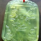Xiu Jade God Of Wealth Yuanbao Amulet Pendant 48mm*35mm
