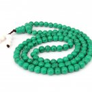 6mm 108 Turquoise Gem Beads Buddhist Prayer Rosary Mala  ZZ211